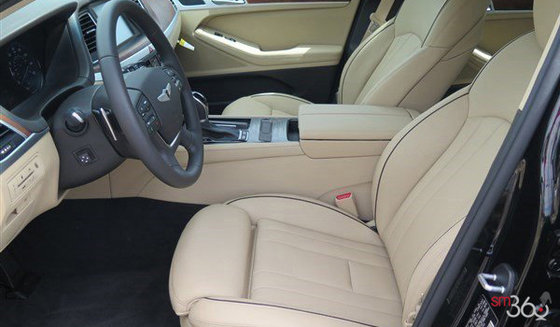 Beige Two Tone Premium Napa Leather with contrast piping