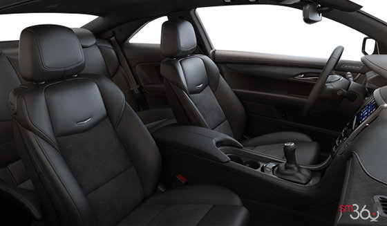Jet Black Leather Trim w/Sueded Microfibre Inserts