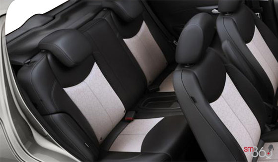 Jet Black/Beige Leatherette