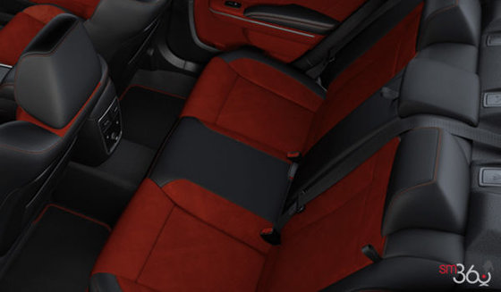 Black Leather/Alcantara w/Red Inserts