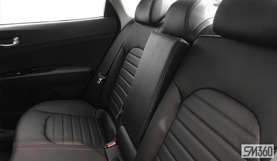 Black Sport Leather with Red stitching