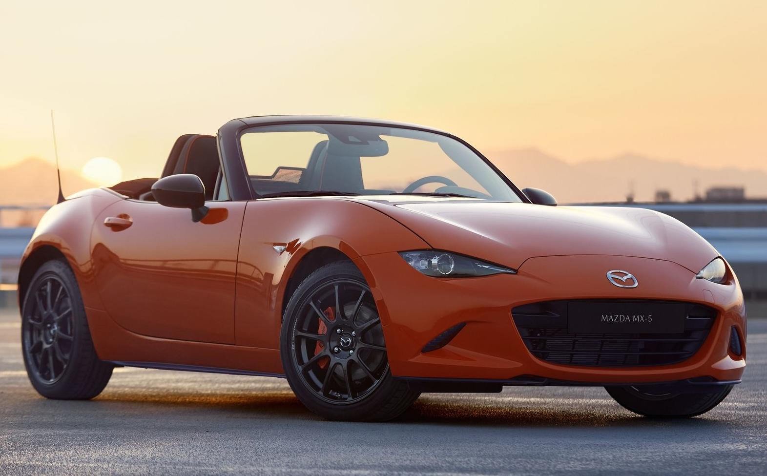 2019 Mazda MX-5 - Orange model in sunset