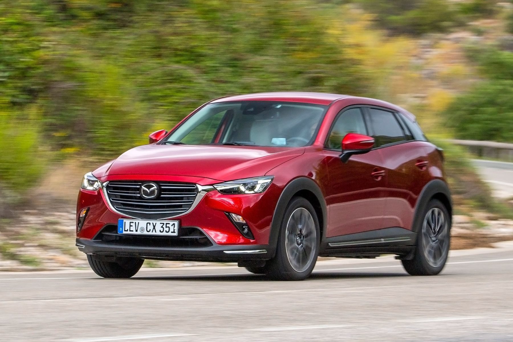 2019 Mazda CX-3 - red model driving