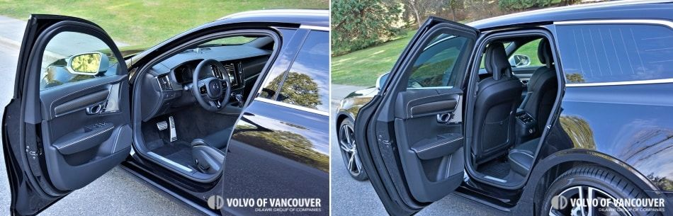 2018 Volvo V90 T6 AWD R-Design - door open