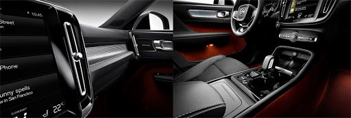 The 2019 Volvo XC40 - compartment