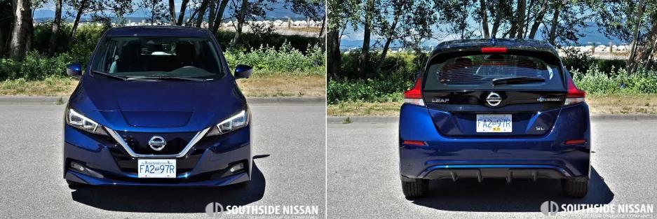 nissan leaf - front and back