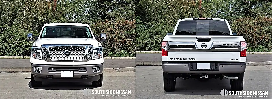 titan xd platinum diesel - back and front