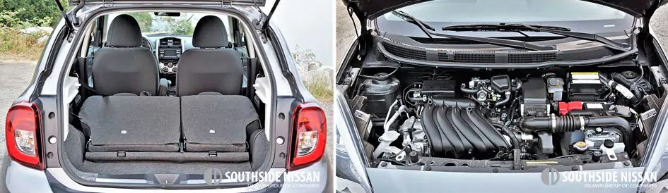 micra sr - trunk and storage