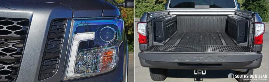 titan pro-4x diesel - trunk and headlights