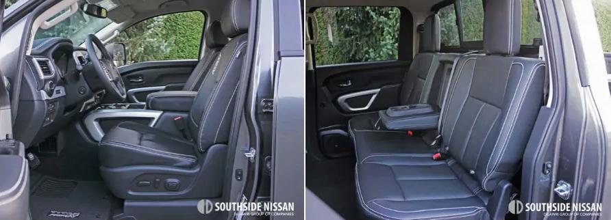 titan pro-4x diesel - seating