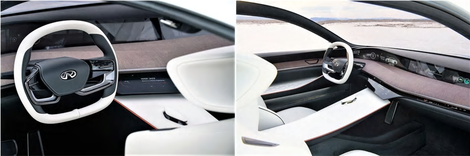 infiniti electric vehicles - interior of infiniti vehicle