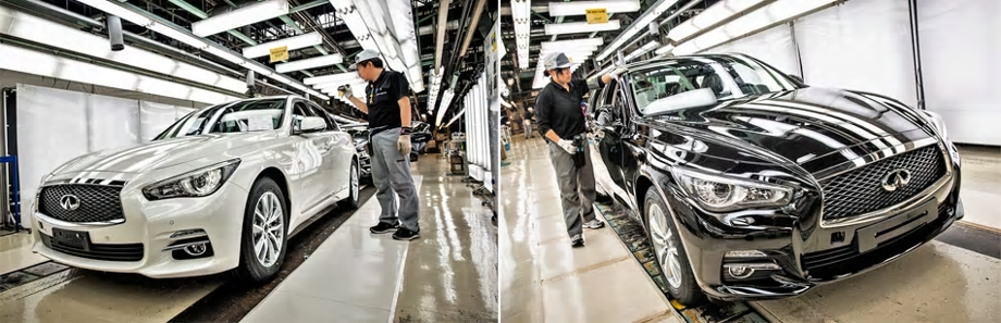 2018 Infiniti Q50 - car being built