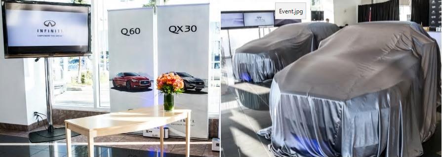 2017 q60 and qx30 - showroom