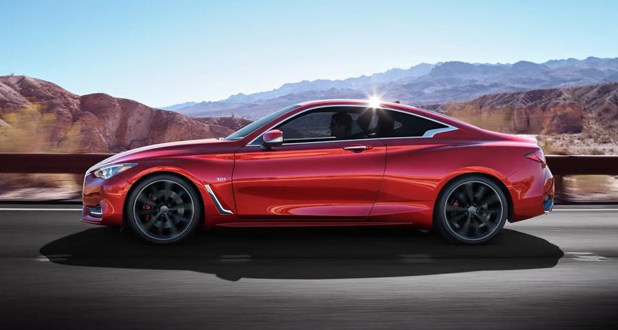 2017 infiniti Q60 - red infiniti model