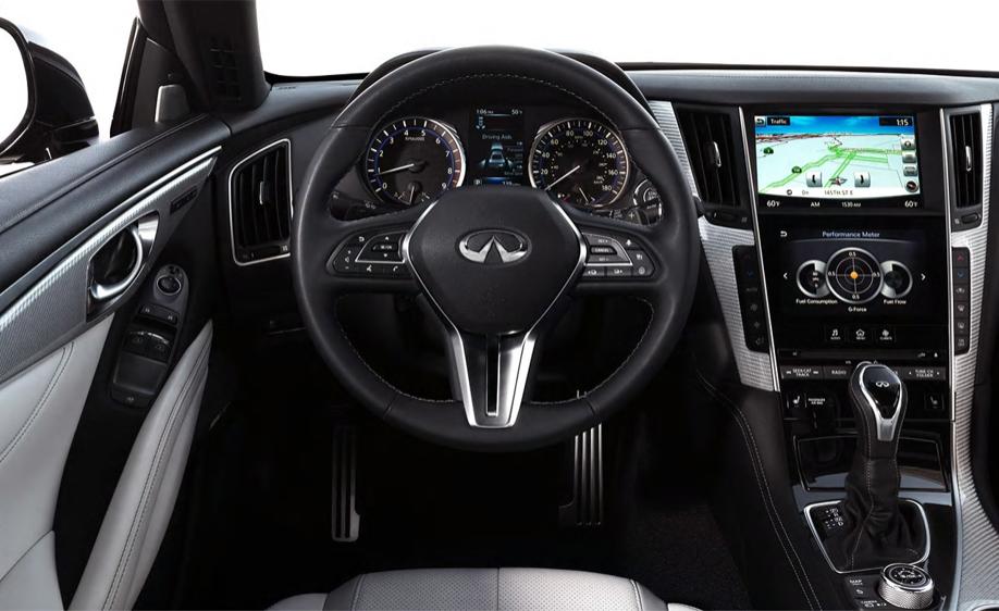 Infiniti Q60 - interior of Infiniti Q60