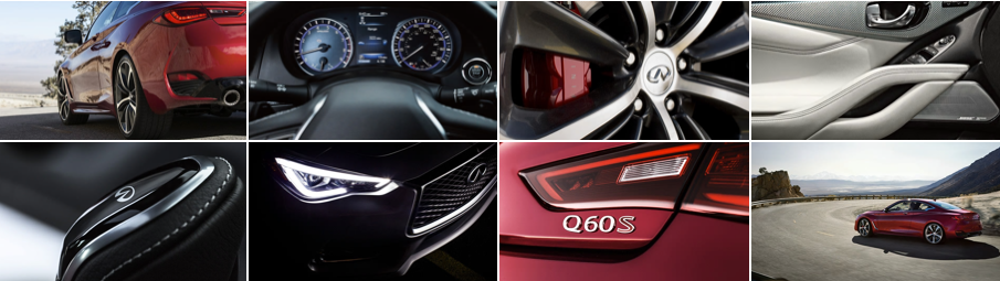 Infiniti Q60 - collage of Infiniti model