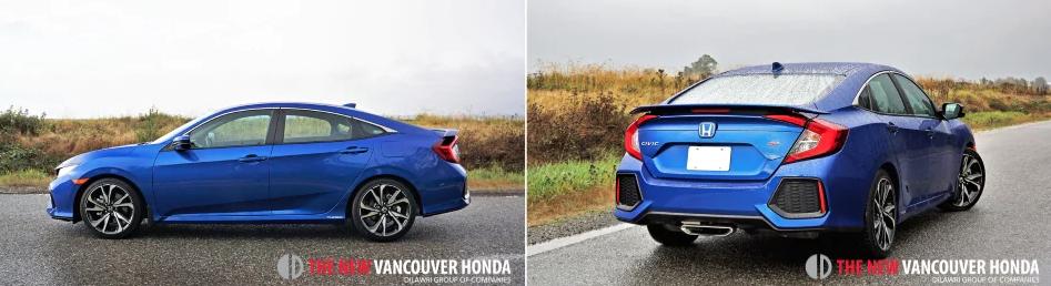 Civic Sedan si - side and back