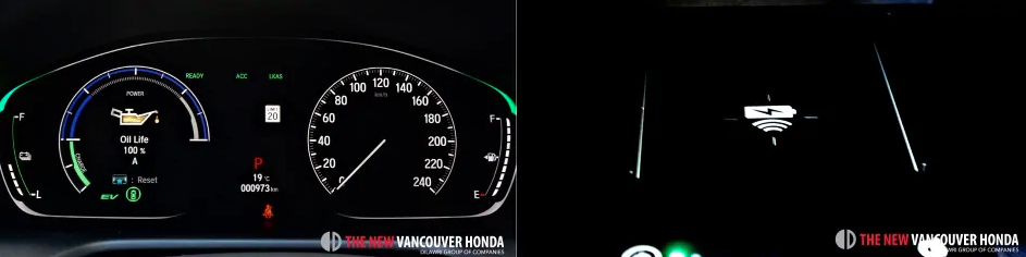 accord hybrid - driver dashboard and wireless charger