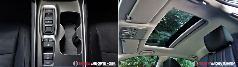 accord hybrid -  middle console and sunroof