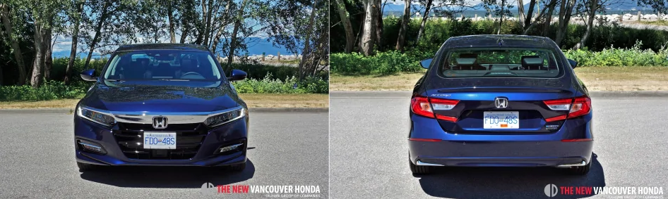 accord hybrid - front and back