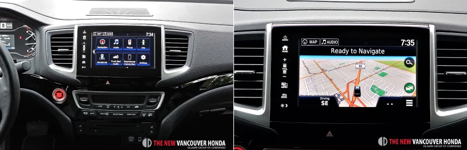 ridgeline touring - middle dashboard console