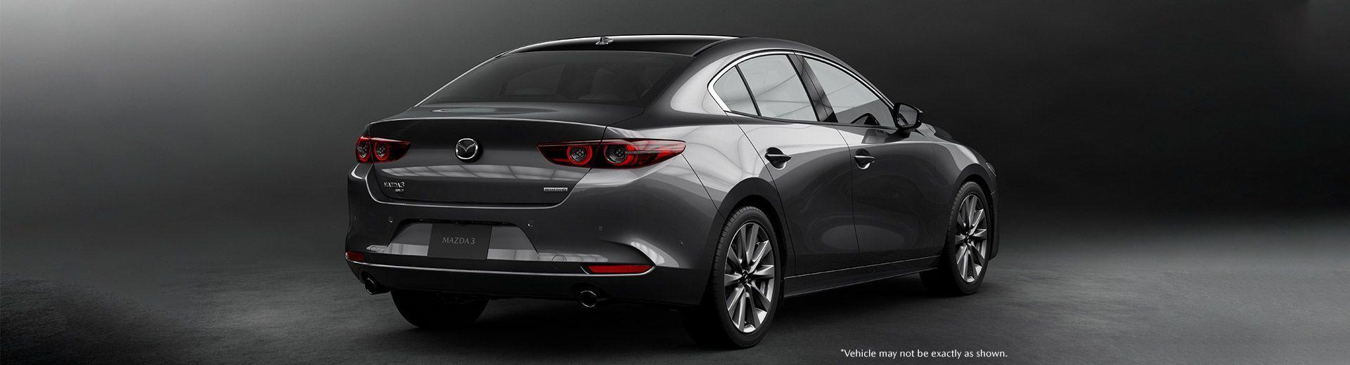 Mazda3 2019 grise de dos