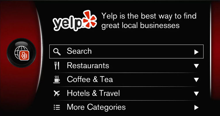 VOLVO SENSUS - Yelp Screen of Volvo Sensus