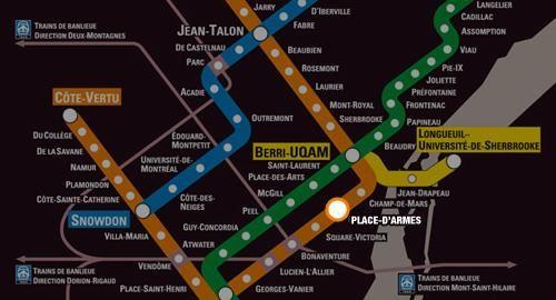 Salon de l'auto Montreal 2018 - Map du metro