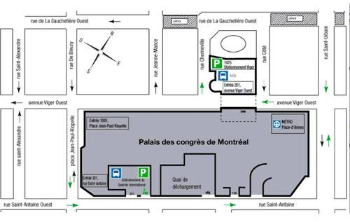 Salon de l'auto Montreal 2018 -  carte du bâtiment