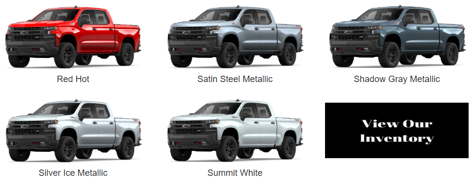 Color Options for 2019 Chevrolet Silverado - Colors available for chevy silverado