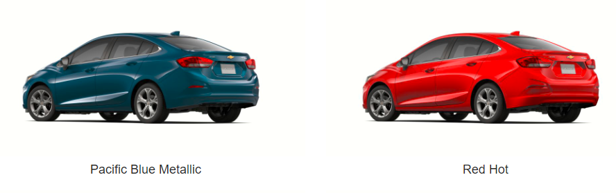 What Colors Does the 2019 Chevrolet Cruze Come In - Blue and red color