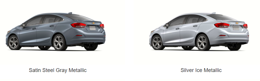 What Colors Does the 2019 Chevrolet Cruze Come In - steel grey and silver ice model