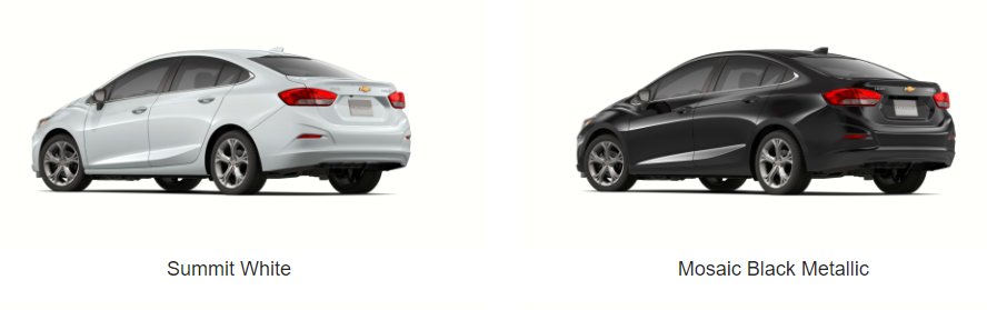 What Colors Does the 2019 Chevrolet Cruze Come In - white and black model