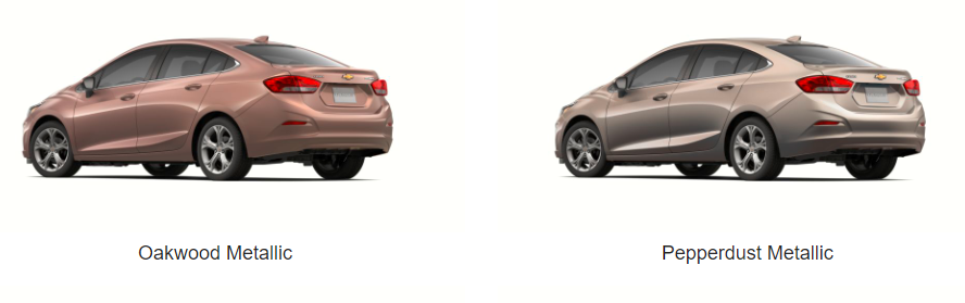 What Colors Does the 2019 Chevrolet Cruze Come In - oakwood and pepperdust model