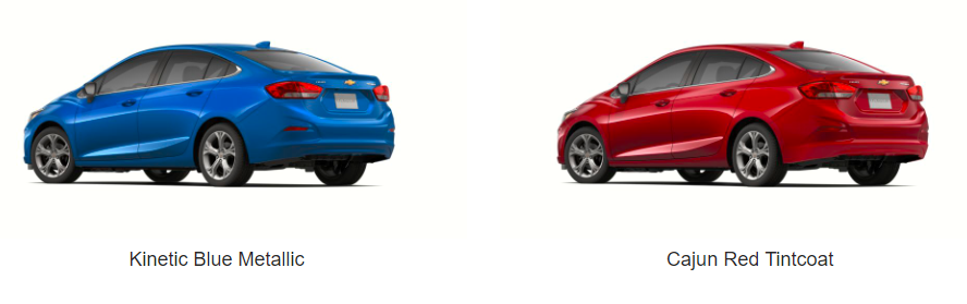 What Colors Does the 2019 Chevrolet Cruze Come In - kinetic blue and cajun red model