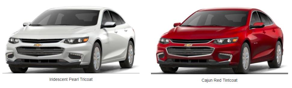 2018 Chevy Malibu Color Choices - color options for malibu exterior