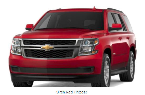 2018 Chevy Tahoe Color Options - Premium color option