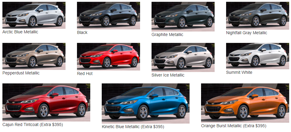 What Colors Does the Cruze Come in? - Color options available