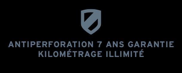 Antiperforation 7 ans garantie kilométrage illimité