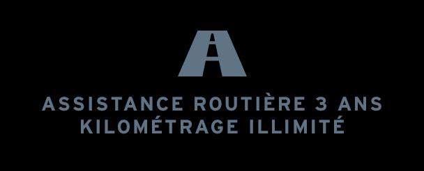 Assistance routière 3 ans garantie kilométrage illimité