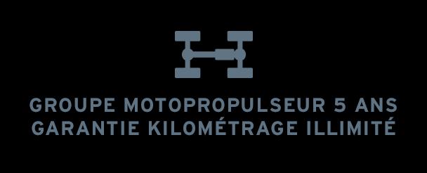 Groupe motopropulseur 5 ans garantie kilométrage illimité