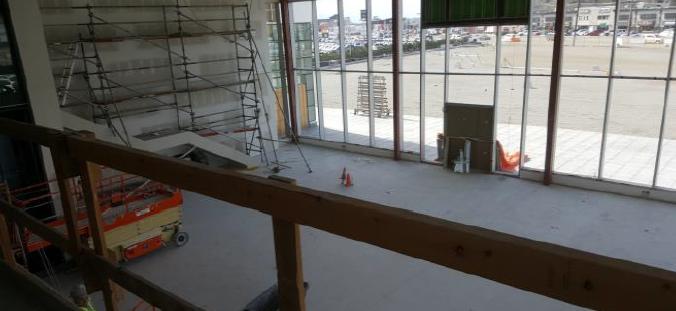 new kelowna dealeship - view from mezzanine