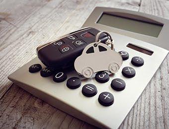 calculator with key remote