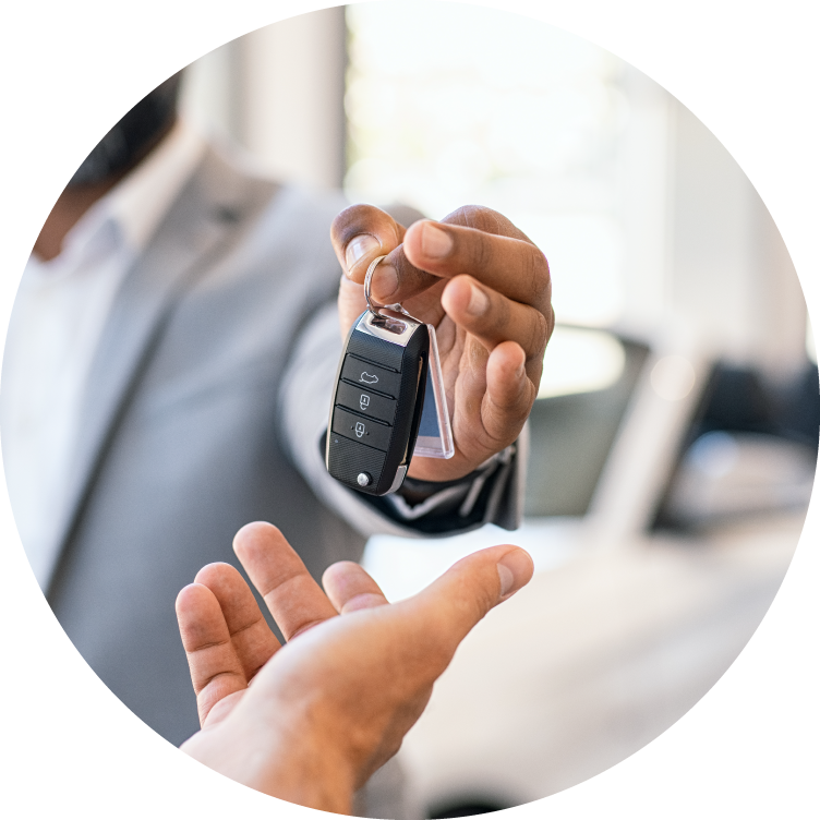 icon of person holding car key