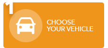 1. choose your vehicle; icone orange