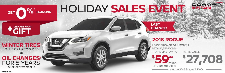 Rogue Holiday Sales Event! - Dormani Nissan Gatineau