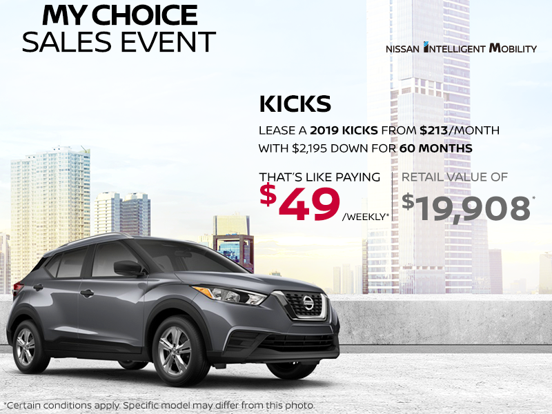 Get The 2019 Kicks Today Dormani Nissan Gatineau Promotion In
