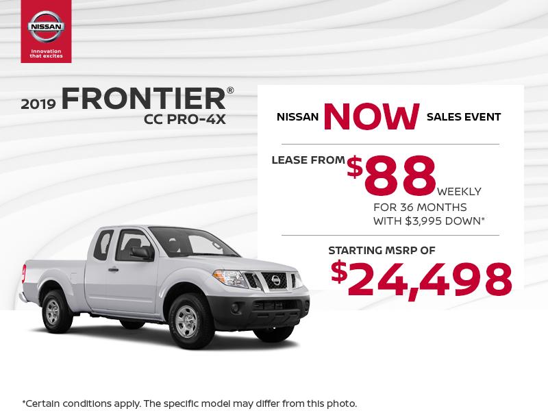 Get the 2019 Nissan Frontier Today! - MacDonald Nissan