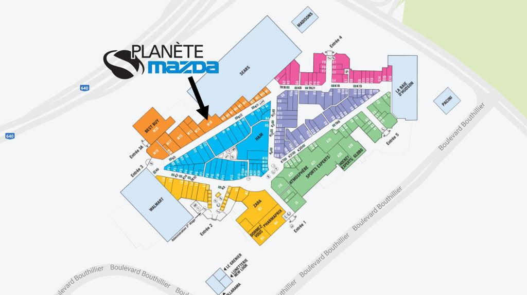 Planète Mazda at Place Rosemère