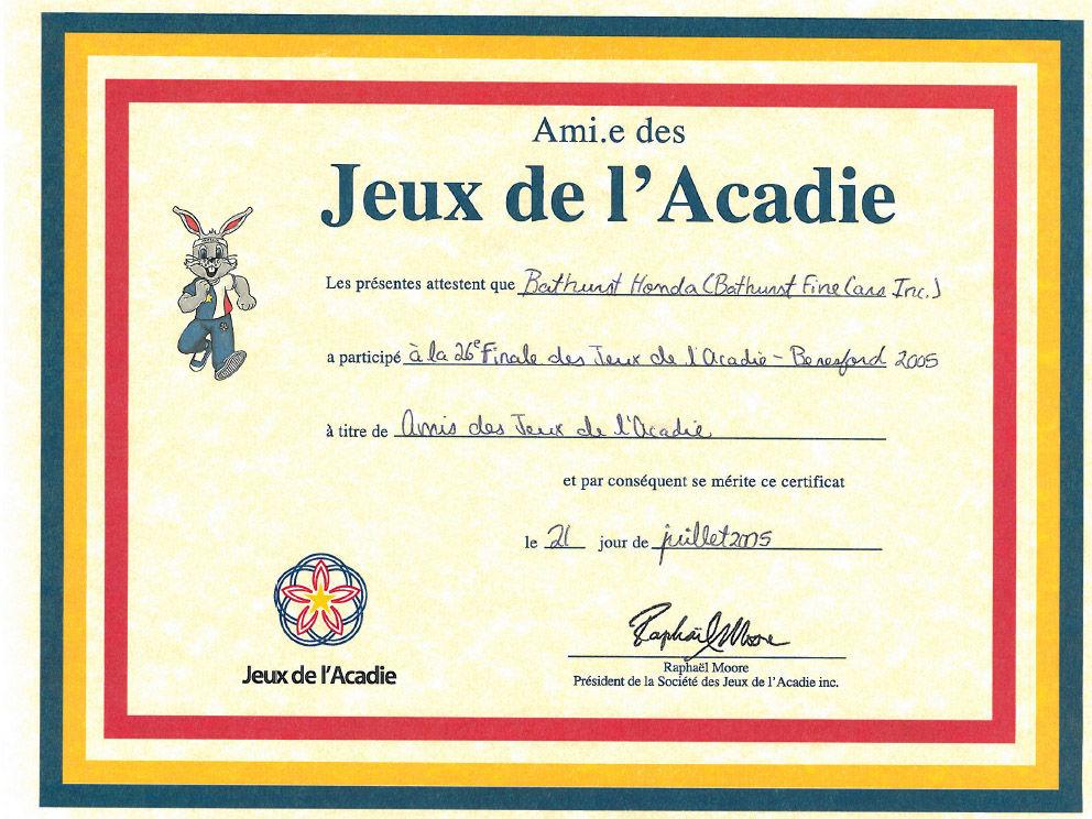 Jeux de L'Acadie